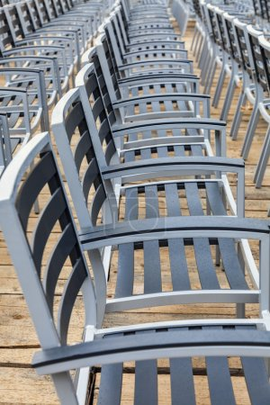 Row of Empty Chairs