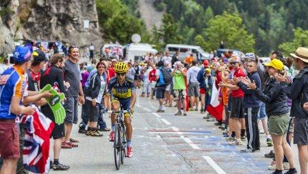 Alpe-D'Huez,France- July 18, 2013: The Spanish cyc...