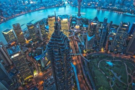 Shanghai Skyscraper at night