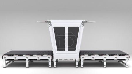 conveyor belt with transformer