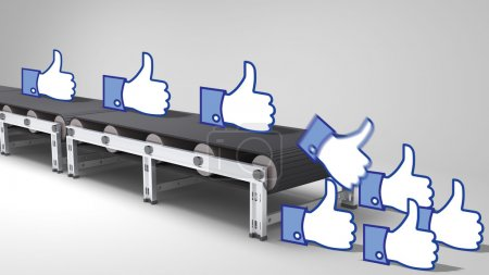 Conveyor belt with like buttons