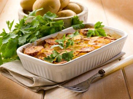 Photo for Homemade potato cake, vegetarian food - Royalty Free Image