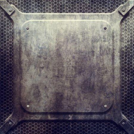 Metal grunge plate