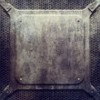 Metal grunge plate (industrial construction templa...