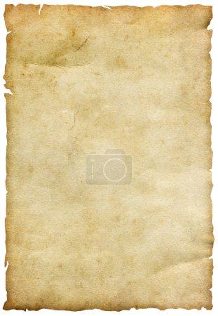 Photo pour Ancienne feuille de papier isolée sur blanc - image libre de droit