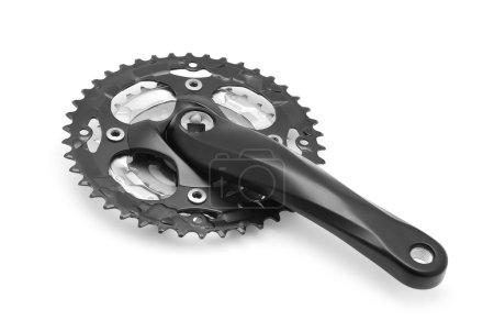 Photo for Bicycle crank set on white - Royalty Free Image