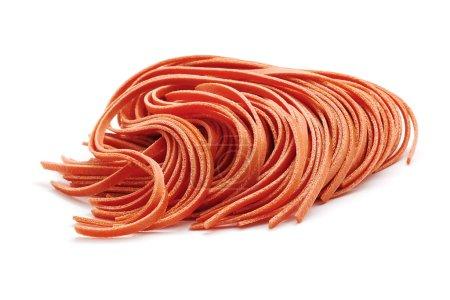 Red fettuccine pasta