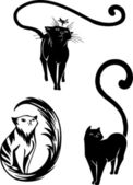 Stylized Cats - elegance and graceful cats