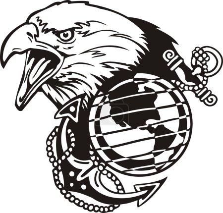 Illustration pour Conception militaire - illustration vectorielle prête pour le vinyle . - image libre de droit