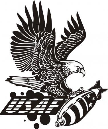 Illustration pour US Air Force - Conception militaire. Illustration vectorielle prête pour le vinyle . - image libre de droit