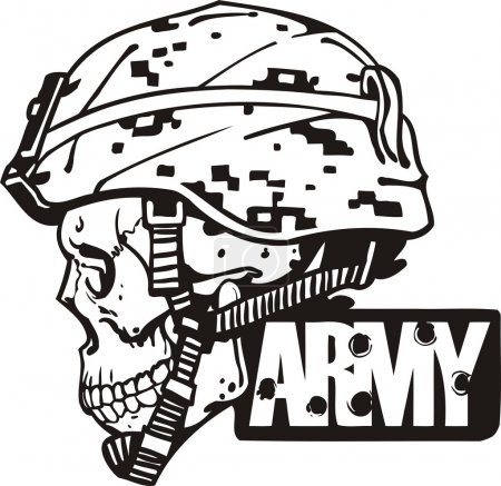 Illustration pour US Army Military Design - illustration vectorielle prête pour le vinyle . - image libre de droit