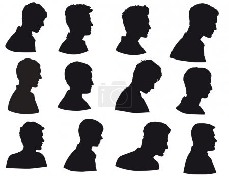 Illustration for Man face in profile - Royalty Free Image