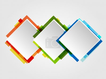 Illustration for Romb Design Frames. Abstract Vector Business Design. - Royalty Free Image