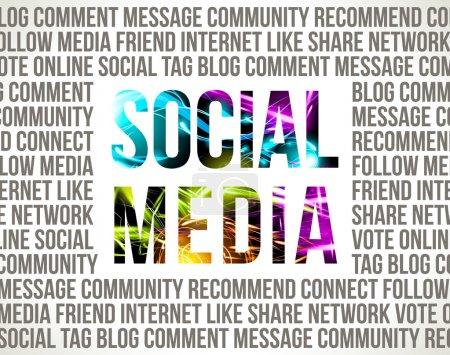 Illustration for Social Media. Decorative background. - Royalty Free Image