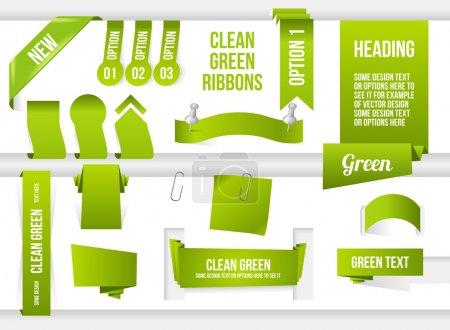 Bundle of Green Web Elements