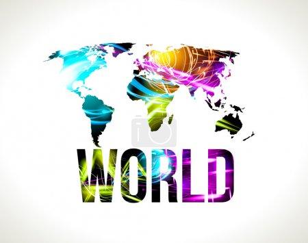 Illustration for World map. - Royalty Free Image