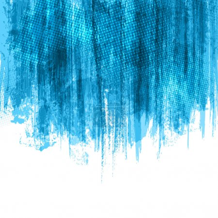 Illustration for Blue Paint Splashes Background. Vector eps10. - Royalty Free Image