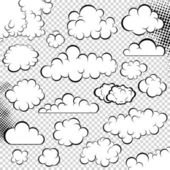 Vector clouds collection Speech bubble Cartoon book