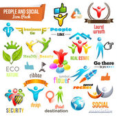Social Community 3d icon and Symbol Pack Vector design elements Change color of icons in accordance to your logo Vol
