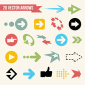 Collection of Vector Arrows Web Design Icon Set Retro Illustration