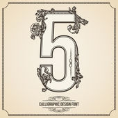 Calligraphic Font Number 5