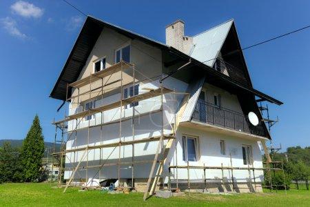 Foto de Casa-aislamiento térmico con espuma de poliestireno - Imagen libre de derechos
