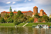 Wawel Castle on sunny day in Cracow, Poland.