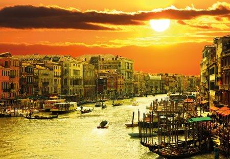 famous grand canale from Rialto Bridge, Venice