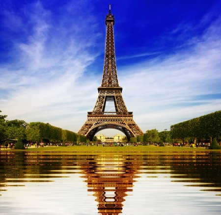 Eiffel Tower in Paris abstract reflection