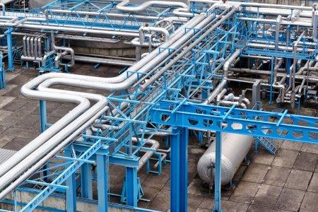 Photo pour Usine de traitement du gaz - image libre de droit