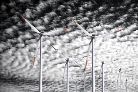 Wind power background