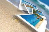 collage de thème de plage Tropic composé de quelques photos