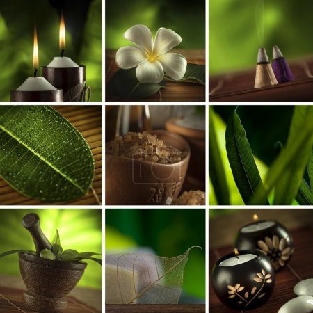Photo for Spa theme collage composed of a few images - Royalty Free Image