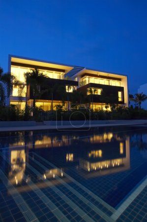 Photo for View of nice modern villa in tropic environment - Royalty Free Image