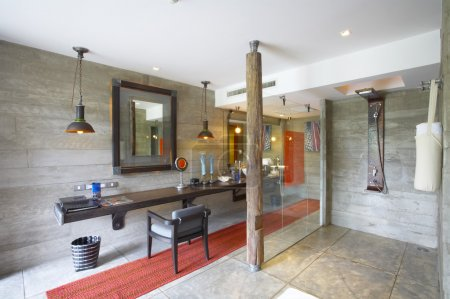 View of nice mixed style bath room Interior