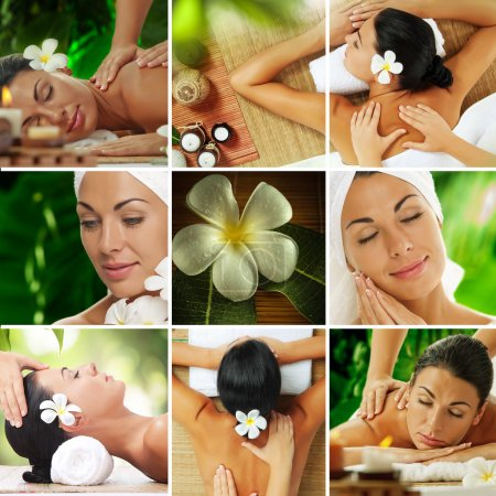 Photo for Spa theme  photo collage composed of different images - Royalty Free Image