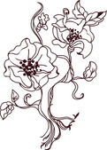 Flower sketch  vector bouquet hand drawing for design