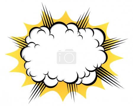 après l'explosion en nuage
