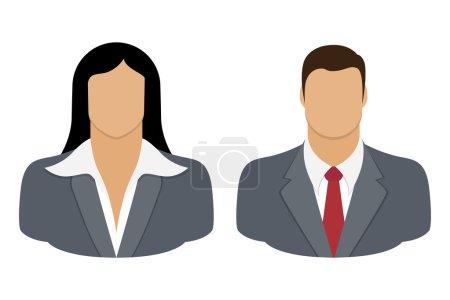 Illustration pour Illustration vectorielle Icône d'utilisateur de personne d'affaires, sur fond blanc - image libre de droit
