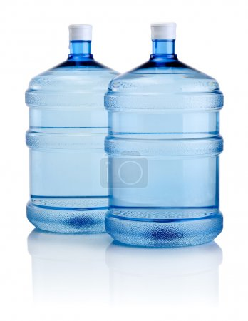 Photo for Two big bottles of water isolated on a white background - Royalty Free Image