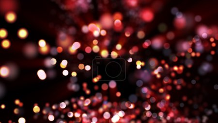 Luminous background with bokeh