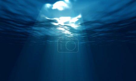 light underwater in ocean
