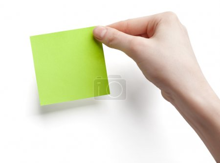 Green post-it note