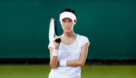 Female player at the tennis court