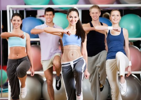 Group of athletic at the gym