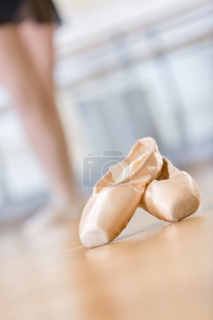 Close-up of pointes for ballet