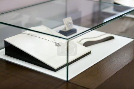 Jewelry in the window case