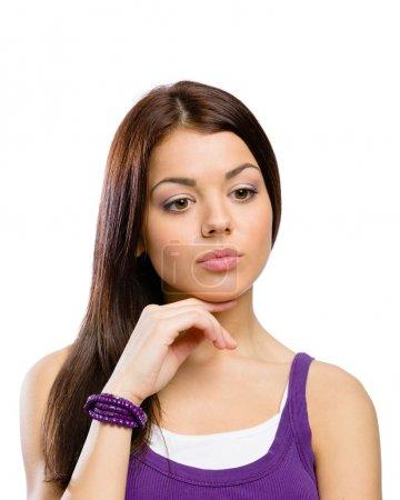 Portrait of pensive girl