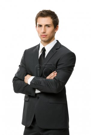 Half-length portrait of business man with crossed arms