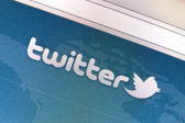 Close up of twitter icon